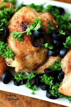 Chicken with Olives for 5 Ingredients or Less #SundaySupper