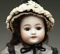 "Bergmann C.M. Dolls Bisque head child doll, with head incised ""Simon & Halbig CM"