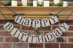 Items similar to Happy Birthday Decoration Hanging Birthday Banner Choose CUSTOM Colors Boy Birthday Girl Birthday Adult Birthday on Etsy Diy Birthday Banner, Diy Banner, 90th Birthday, Birthday Decorations, Girl Birthday, Happy Birthday, Birthday Ideas, Birthday Greetings For Brother, Birthday Gifts For Husband