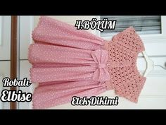 BAYRAM ŞEKERİ ROBALI ELBİSE / 4. BÖLÜM (ETEK DİKİMİ) - YouTube Crochet Yoke, Crochet Vest Pattern, Mode Crochet, Baby Knitting Patterns, Crochet Patterns, Tunisian Crochet, Crochet Stitch, Baby Girl Crochet, Crochet Baby Clothes