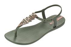 e457e712ac43 Ipanema Charm II Sage Green T Bar Women s Flat Sandals. Ipanema  SandalsIpanema Flip FlopsRubber ...