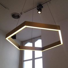 Brass Hex Chandelier from Resident Studio — I Saloni 2014 - Apartment Therapy