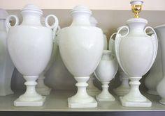 Lampade in porcellana bianca - White porcelain lamps