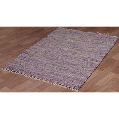 Hand Woven Matador Purple Leather And Hemp Rug 8 X 10
