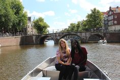 Floating down the canals of Amsterdam