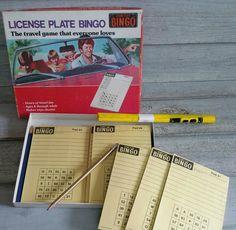 License Plate Bingo Game, Car Activities For Kids Long Car Trips, Car Activities, Bingo Games, Love Games, Car Travel, Antique Books, Vintage Items, Encouragement, Messages