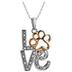 Diamond Love Animal Paw Print Necklace - Velvetblu Jewelry
