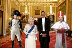 BUCKINGHAM PALACE, THE QUEEN, OBAMA, MR BEAN AND SHELDON COOPER...FUNNY CRAZY ABSURD