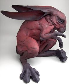 By Beth Cavener Stichter rabbit black red art sculpture.reminds me of watership down Rabbit Sculpture, Art Sculpture, Animal Sculptures, Illustration Art, Illustrations, Ceramic Artists, Clay Art, Oeuvre D'art, Amazing Art