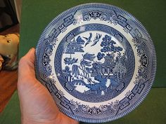 #Churchill blue #willow china  plate #staffordshire england blue and white,  View more on the LINK: http://www.zeppy.io/product/gb/2/131920289510/