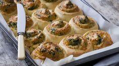 Three cheese spinach scrolls recipe - 9Kitchen #thermomix #recipe