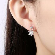 2af2da2ae Trendy 24K Gold Plated Plant White Cubic Zirconia Stud Earrings for Women  GPSE361 3 Women's Earrings