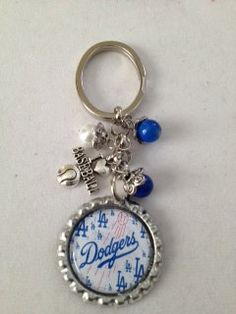 Los Angeles Dodgers Bottle Cap keychain by MANDLLTD on Etsy, $5.00