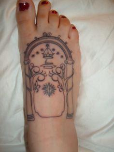 door of moria tattoo