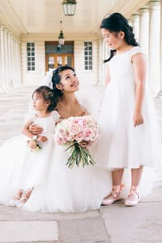A cute moment with the flower girls: http://www.stylemepretty.com/destination-weddings/2016/04/18/culturally-rich-elegant-wedding-filled-with-whimsy/ | Photography: Natasha Hurley - http://natashahurley.com/