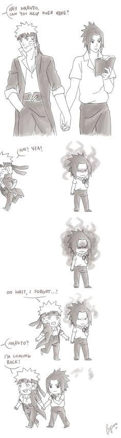 Holding Hands... by biscutpoo Lmao Sasuke is so jealous/selfish