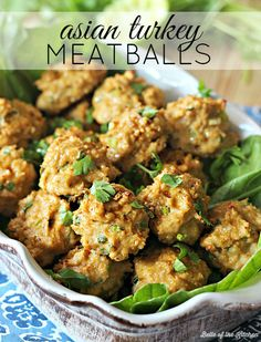 These Asian Turkey Meatballs are made with lean ground turkey breast and plenty of Asian flavor. Serve with a side of brown rice for a healthy, easy dinner!