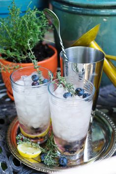 Make this delicious blueberry thyme mojito with ingredients from your own backyard! Learn how to grow your own cocktail garden and whip up this refreshing drink for parties all summer long.