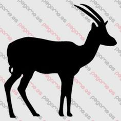 Pegame.es Online Decals Shop  #animal #horns #gazelle #vinyl #sticker #pegatina #vinilo #stencil #decal