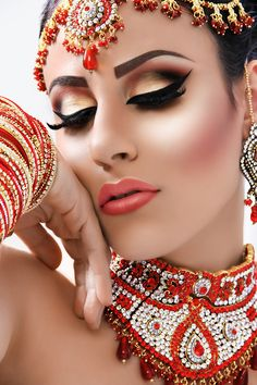 """Beautiful, smoky, subtle, perfect makeup! """"'Bridal Dolls' Inspiration from Asiana Magazine Style and Barbie at Mac Collection"""" by Noveen Khan, via 500px."""