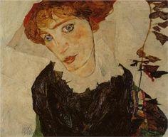 * Egon Schiele Portrait of Valerie Neuzil, 1912