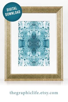Satisfy your love of teal and make a quick change to your home or office by getting instant access to this abstract downloadable print. Click through to view more styles! #DigitalArt #InstantArt #ColorfulDigitalArt #PourArtwork #FluidArt Teal Wall Art, Wall Art Prints, Jewel Tone Bedroom, Jewel Tone Colors, Teal Walls, Instant Access, Pour Painting, Printing Services, Colorful Interiors