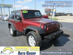 This 2008 Jeep Wrangler X is listed on Carsforsale.com for $14,995 in Peru, IL. This vehicle includes Fuel Consumption: City: 15 mpg, Fuel Consumption: Highway: 19 mpg, 4-wheel ABS Brakes, Front Ventilated disc brakes, Passenger Airbag, Manual convertible roof, Digital Audio Input, In-Dash single CD player, MP3 player, AMFMSatellite-prep Radio, Radio Data System, Total Number of Speakers: 6, Braking Assist, ABS Traction Control, Stability control with anti-roll control, Privacy g...