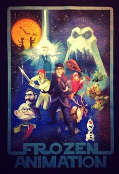 "The crew of Disney's ""Frozen"" received these ""Star Wars"" themed t-shirts."