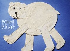 The Playful Polar Bear Craft comes with a free printable that makes this the easiest winter craft for kids!