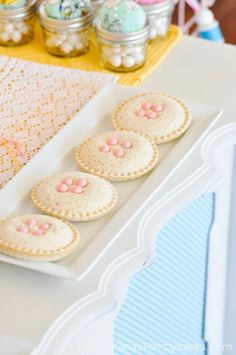 Button sandwiches at a sewing themed birthday party via Kara's Party Ideas | Kara Allen | KarasPartyIdeas.com A lot of cute as a button elements, decor, cupcakes, food, games and more!