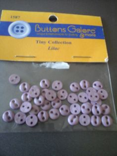 tiny lilac buttons by HABERDASHERYHAVEN on Etsy