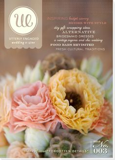 """Utterly Engaged Issue No. 3 """"Forgotten Details"""", Photographed by @Stephanie Williams, Florals by @Carissa Jones of JL Designs."""