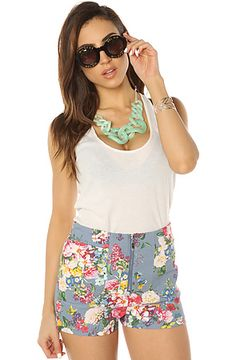 The Floral Me Not Short in Light Denim by *MKL Collective $17.95