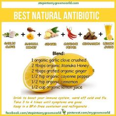 Gettin' Our Skinny On!: Best Natural Antibiotic!