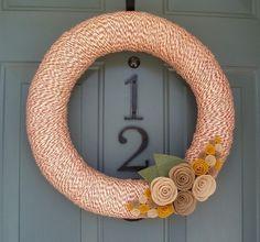 yarn wreath by francis