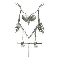 Forked Up Art - Owl Pinned by www.myowlbarn.com