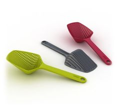 Scoop Colander: Scoop & drain straight from the pot. Dishwasher safe.