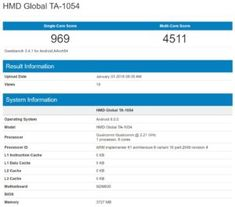 Nokia 6 (2018) now spotted on GeekBench Benchmarks #technology