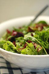 Salad ideas and homemade salad dressings - for summer!   Also Green Olive, Tomato, Vinegar & Oil salad dressing