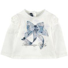 Jersey T-shirt with rhinestones
