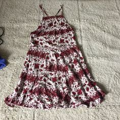 Kristen? Dress New with tags. Would keep but too short and can't find a bra to wear it with(I have rlly broad shoulders lol) it's one size but I think it would fit medium best. Want to trade for basic Brandy tops(solid colored simple tshirts preferably not cropped) also I think I saw someone post the same exact dress and say it's rare Brandy Melville Dresses Mini