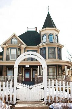 This is a famous house in Woodstock.  Can you guess it?  This house is featured in the movie Groundhog's Day which was filmed in my home town.