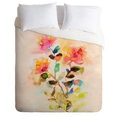 Marta Spendowska Watercolor Vintage Roses Duvet Cover | DENY Designs Home Accessories