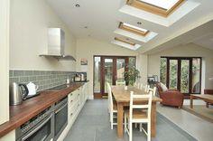 kitchen sky light windows - Google Search
