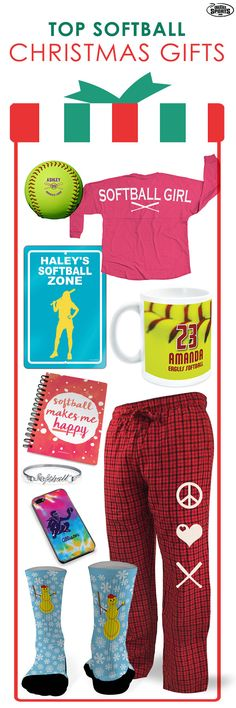 Have a special softball girl you're shopping for this Christmas?  Check out our top softball gift picks!  We offer custom statement jersey shirts, comfortable lounge pants, personalized softball mugs and more!  Your softball star will love these softball products.  Head to chalktalksports.com to browse all of our holiday inspired softball gifts!