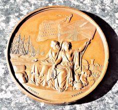 Antique 1862 International Exhibition Bronze Medallion / Medal - Pinches