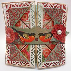 napkin fold card: Kaisercraft