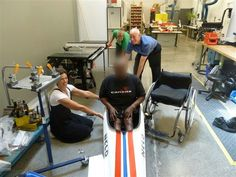Tedi and our CFAB team with our new custom adaptive kayak seat