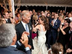 The Vice President, Joe Biden shows off his skills at his daughter s wedding