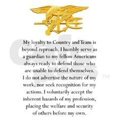 Navy SEAL Creed... Navy Military, Military Police, Navy Seal Creed, Navy Seals Quotes, Gi Joe, Marine Recon, Seal Team 6, Us Navy Seals, My Champion